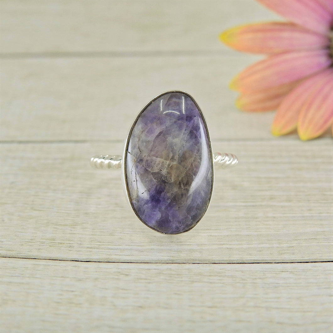 Amethyst Ring - Size 6 1/2 - Sterling Silver - Gem & Tonik