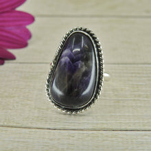 Load image into Gallery viewer, Large Amethyst Ring - Size 7 1/2 - Sterling Silver - Gem & Tonik