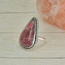 Load image into Gallery viewer, Rhodonite Ring - Size 7 1/2 - Sterling Silver - Gem & Tonik