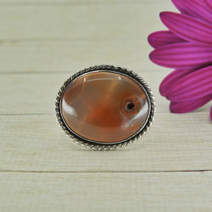 Carnelian Statement Ring - Size 8 - Sterling Silver - Gem & Tonik