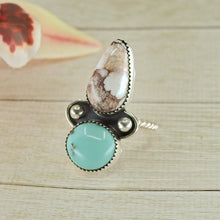 Load image into Gallery viewer, Wild Horse & Nacozari Turquoise Ring - Size 8 - Gem & Tonik