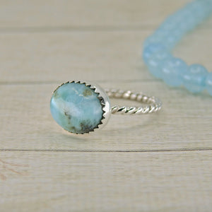 Larimar Ring - Size 8 1/4 - Sterling Silver - Gem & Tonik