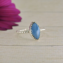 Load image into Gallery viewer, Marquise Peruvian Blue Opal Ring - Size 6 1/2 - Gem & Tonik