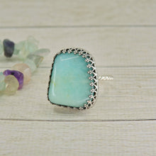 Load image into Gallery viewer, Amazonite Ring - Size 8 - Sterling Silver - Gem & Tonik