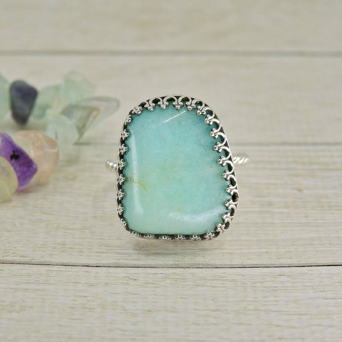 Amazonite Ring - Size 8 - Sterling Silver - Gem & Tonik