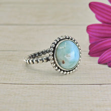 Load image into Gallery viewer, Round Larimar Ring - Size 9 - Gem & Tonik