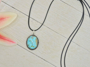 Turquoise Mountain Turquoise Pendant - Sterling Silver - Gem & Tonik