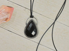 Load image into Gallery viewer, Faceted Black Onyx Pendant - Sterling Silver - Gem & Tonik