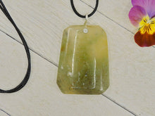 Load image into Gallery viewer, Large Moss Agate Trapezoid Pendant - Sterling Silver - Gem & Tonik