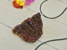 Load image into Gallery viewer, Rainbow Aura Geode Pendant - Gem & Tonik