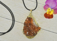Load image into Gallery viewer, Citrine Geode Pendant - Mixed Metal - Gem & Tonik