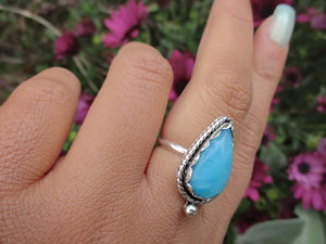 Smithsonite Ring - Size 7 1/4 - Sterling Silver - Gem & Tonik