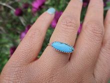 Load image into Gallery viewer, Hubei Turquoise Stacker - Size 5 3/4 - Sterling Silver - Gem & Tonik
