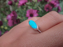 Load image into Gallery viewer, Hubei Turquoise Stacker - Size 6 3/4 - Sterling Silver - Gem & Tonik