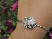 Load image into Gallery viewer, Wild Horse Magnesite Bangle - Sterling Silver - Size L - Gem & Tonik