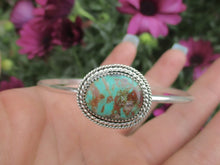 Load image into Gallery viewer, Royston Turquoise Bangle - Sterling Silver - Size M - Gem & Tonik