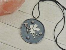 Load image into Gallery viewer, Fae Amongst the Stars - Fairy Moonstone Pendant - Gem & Tonik