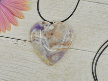 Load image into Gallery viewer, Charoite Heart Pendant - Gem & Tonik