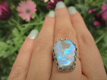 Load image into Gallery viewer, Rainbow Moonstone Coffin Ring - Size 8 - Gem & Tonik