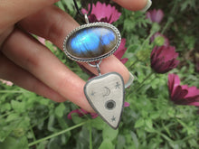 Load image into Gallery viewer, Labradorite Planchette Pendant - Sterling Silver -  Gem & Tonik Halloween 2019 Collection - Gem & Tonik