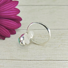 Load image into Gallery viewer, Compass Turquoise Ring - Size 6 1/2 - Sterling Silver - Gem & Tonik