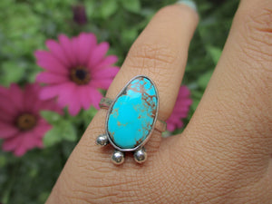 Royston Turquoise Ring - Size 4 1/2 - Sterling Silver - Gem & Tonik