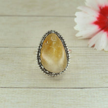Load image into Gallery viewer, Large Citrine Ring - Size 7 1/2 - Sterling Silver - Gem & Tonik
