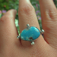 Load image into Gallery viewer, Morenci Turquoise Ring - Size 9 1/4 - Sterling Silver - Gem & Tonik