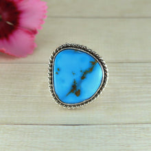 Load image into Gallery viewer, Morenci Turquoise Ring - Size 9 - Sterling Silver - Gem & Tonik