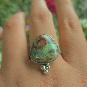 Royston Turquoise Ring - Size 11 1/2 - Sterling Silver - Gem & Tonik