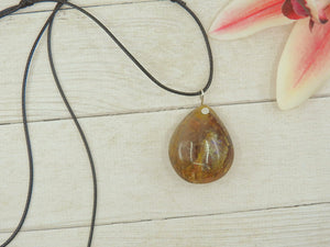 Golden Rutilated Quartz Pendant - Sterling Silver - Gem & Tonik