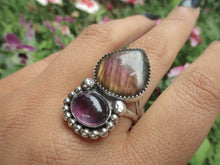Load image into Gallery viewer, Purple Labradorite & Amethyst Ring - Size 10 1/2 - Gem & Tonik