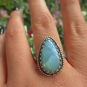 Larimar Ring - Size 10 1/4 - Sterling Silver - Gem & Tonik