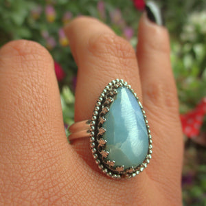 Larimar Ring - Size 10 1/4 - Gem & Tonik