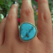 Load image into Gallery viewer, Morenci Turquoise Ring - Size 9 - Gem & Tonik