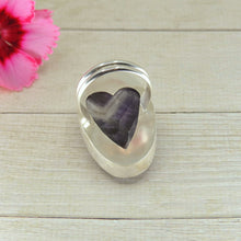 Load image into Gallery viewer, Chevron Amethyst Statement Ring - Size 8 - Gem & Tonik
