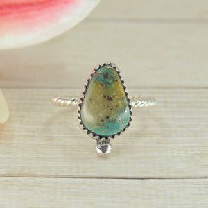 Cerrillos Turquoise Ring - Size 8 - Sterling Silver - Gem & Tonik