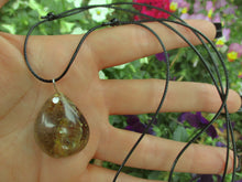 Load image into Gallery viewer, Golden Rutilated Quartz Pendant - Sterling Silver - Gem & Tonik