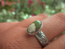 Load image into Gallery viewer, Royston Ribbon Turquoise Ring - Size 9 - Sterling Silver - Gem & Tonik