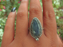 Load image into Gallery viewer, Blue Kyanite Ring - Size 10 - Sterling Silver - Gem & Tonik