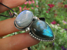 Load image into Gallery viewer, Blue Labradorite & Moonstone Pendant - Sterling Silver - Gem & Tonik