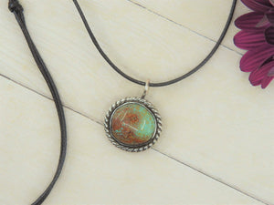 Green and Brown Royston Turquoise Pendant - Gem & Tonik