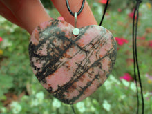 Load image into Gallery viewer, Rhodonite Heart Pendant - Sterling Silver - Gem & Tonik