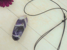 Load image into Gallery viewer, Chevron Amethyst Pendant - Gem & Tonik