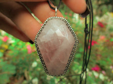 Load image into Gallery viewer, Rose Quartz Coffin Pendant - Sterling Silver - Gem & Tonik