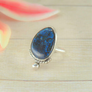 Azurite Ring - Size 7 1/2 - Gem & Tonik