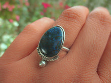 Load image into Gallery viewer, Azurite Ring - Size 7 1/2 - Sterling Silver - Gem & Tonik