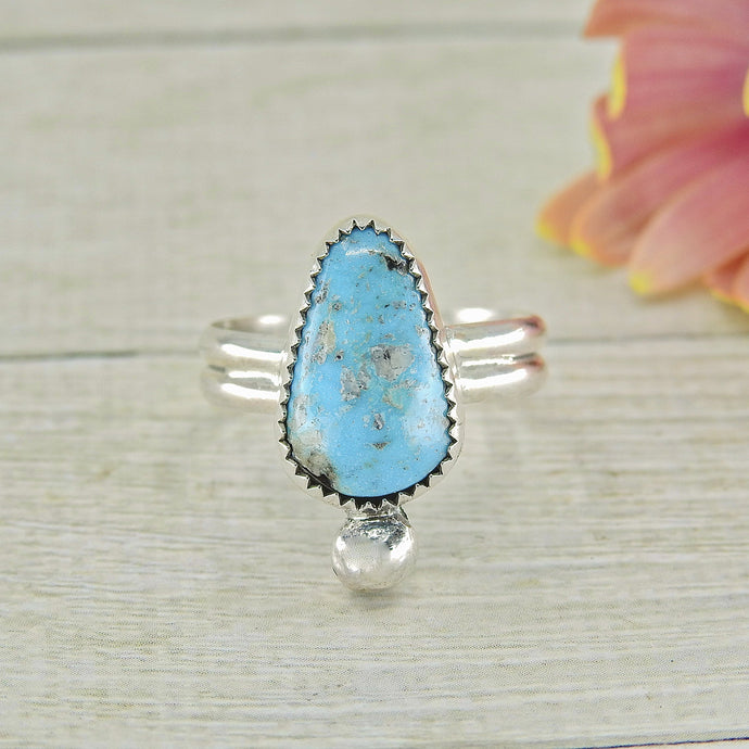 Turquoise Mountain Turquoise Ring - Size 8 1/4 - Sterling Silver - Gem & Tonik