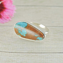Load image into Gallery viewer, Royston Turquoise Ring - Size 10 1/2 - Sterling Silver - Gem & Tonik