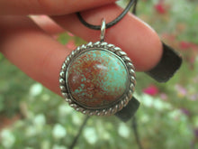 Load image into Gallery viewer, Green and Brown Royston Turquoise Pendant - Sterling Silver - Gem & Tonik